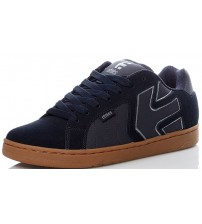 Etnies Fader 2 Navy Gum Mens Suede Trainers Shoes