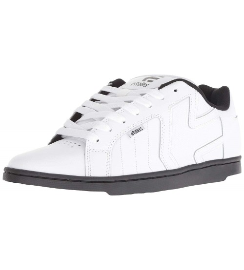 Etnies Fader 2 White Black Mens Leather Skate Trainers