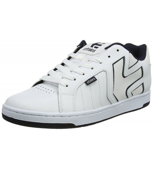 Etnies Fader 2 White Navy Mens Leather Skate Trainers