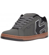 Etnies Fader 2 Grey Black Mens Leather Skate Trainers