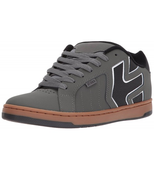 Etnies Fader 2 Grey Black Red Mens Leather Trainers