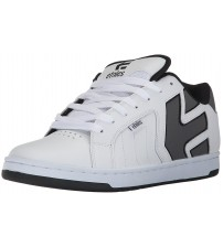 Etnies Fader 2 White Grey Mens Leather Skate Trainers