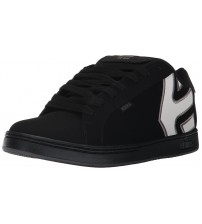 Etnies Fader Black Reflective Mens Suede Skate Trainers