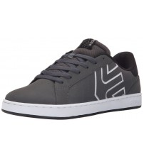 etnies Fader LS Charcoal Black Leather Mens Skate Trainers Shoes