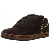 Etnies Fader Brown Camo Mens Suede Skate Trainers