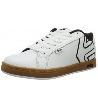 Etnies Fader White Gum Mens Leather Skate Trainers Shoes