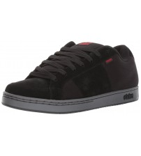 Etnies Kingpin Black Red Mens Suede Skate Trainers