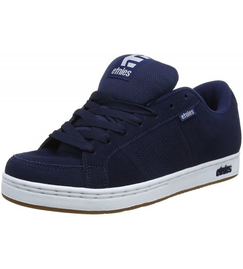 Etnies Kingpin Navy Gum White Mens Suede Trainers Shoes