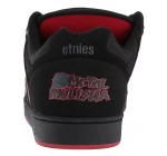 Etnies Metal Mulisha Swivel Black Red Mens Suede Trainers