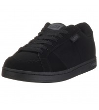 Etnies Kingpin Black Suede Perforated Skate Trainers