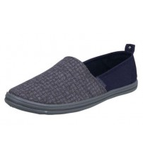 Firetrap Ayre Grey Blue Canvas Mens Espadrille Plimsoles Shoes