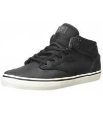 Globe Motley Mid Black Waxed Leather Mens Skate Trainers Shoes Boots