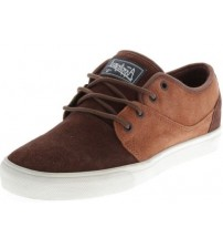 Globe Motley Tan Brown Suede Mens Skate Trainers Shoes
