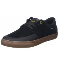 Globe Chase Black Gum Mens Suede Skate Trainers