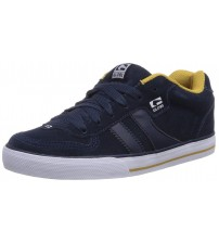 Globe Encore 2 Navy Gold Suede Men Skate Trainers