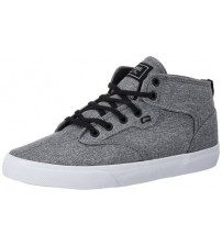 Globe Motley Mid Black Chambray Whiye Mens Skate Trainers