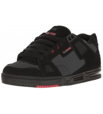 Globe Sabre Black Red Leather Mens Skate Trainers