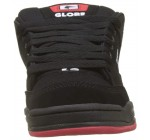 Globe Tilt Black Red Knit Mens Leather Skate Trainers