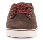 Globe Motley Dark Brown White Suede Mens Skate Trainers Shoes Boots