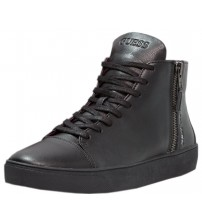 Guess Laurence Black Leather Mens Mid Trainers Boots