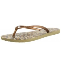 Havaianas Slim Animals Beige Women Beach Flip Flops