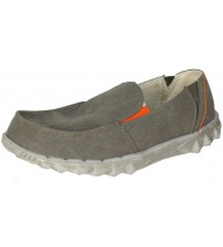 Hey Dude Farty Chalet Grey Shearling Mens Slipons Shoes