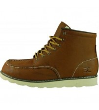 Hey Dude Rocca Tan Men Leather Mid Ankle Boots