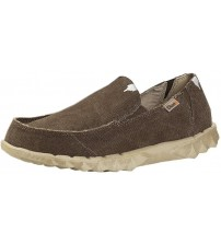 Hey Dude Farty Classic Wenge Canvas Slipons Shoes
