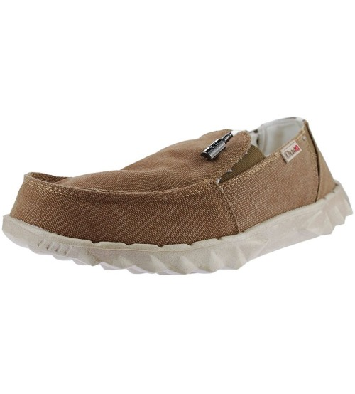 Hey Dude Farty Chalet Coffee Canvas Mens Slipons Shoes