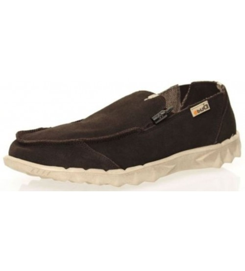 Hey Dude Farty Chocolate Suede Mens Slipons Shoes