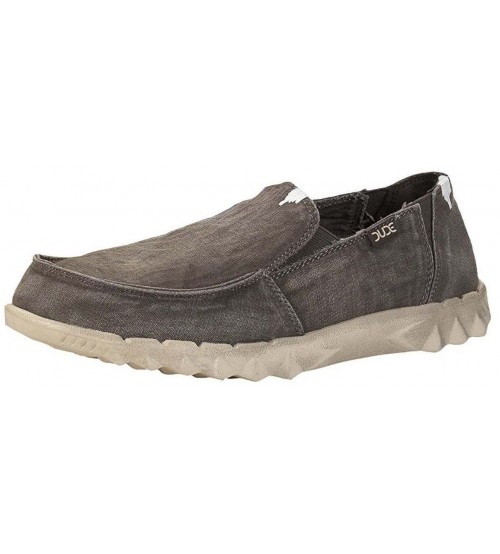 Hey Dude Farty Mud Washed Canvas Mens Slipons Shoes 952006f1923