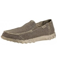 Hey Dude Farty Natural Tundra Organic Cotton Slipons Shoes