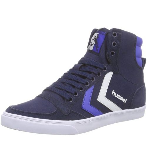 Hummel Slimmer Stadil Duo Hi Navy Blue White Men Trainers