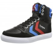 Hummel Slimmer Stadil Black Blue Red Leather Hi Men Trainers