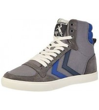 Hummel Slimmer Stadil Duo Grey Blue Mens Hi Trainers Boots