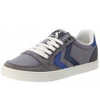 Hummel Slimmer Stadil Duo Grey Blue Mens Lo Trainers Shoes