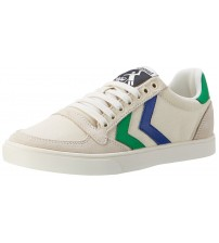 Hummel Slimmer Stadil Duo White Green Blue Mens Lo Trainers Shoes