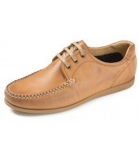 Ikon Chester Tan Mens Leather Lace Up Casual Shoes