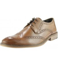 Ikon Pace Tan Leather Mens Formal Oxford Brogue Shoes