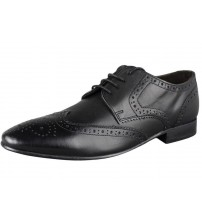 Ikon Statham Black Leather Men Formal Shoes