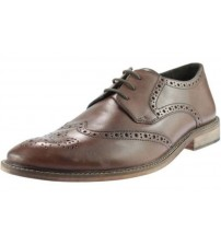 Ikon Pace Brown Leather Men Formal Shoes