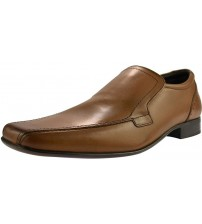 Ikon Saxon Tan Leather Mens Formal Slip On Shoes