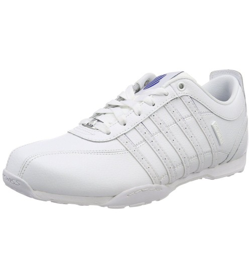 K. Swiss Arvee 1.5 White Blue Mens Leather Trainers Shoes