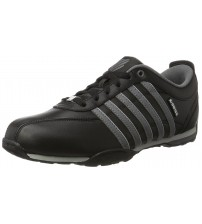 K. Swiss Arvee 1.5 Black Charcoal Mens Leather Trainers Shoes