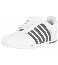 K. Swiss Arvee 1.5 White Pewter Mens Leather Trainers Shoes