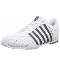 K. Swiss Arvee 1.5 Perf White Grey Mens Leather Trainers Shoes