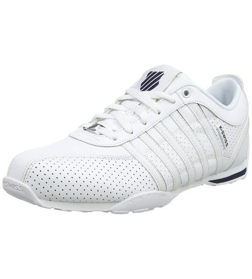 K. Swiss Arvee 1.5 Perf White Navy Mens Leather Trainers Shoes
