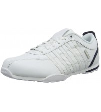 K. Swiss Arvee 1.5 White White Navy Mens Leather Trainers Shoes