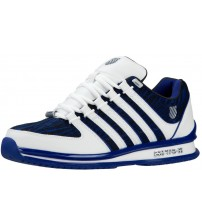 K. Swiss Rinzler Blue White Mens Leather Trainers Shoes
