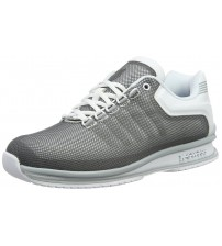 K. Swiss Rinzler Grey White Mens Leather Trainers Shoes